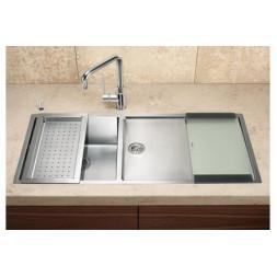 Кухонная мойка Blanco Claron 400/550-Т-If Нержавеющая сталь (сталь с зеркальной полировкой)