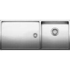 Мойка для кухни Blanco CLARON 400/550-T-IF (чаша справа) нерж. сталь зеркальная полировка