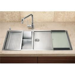 Кухонная мойка Blanco Claron 400/550-Т-U Нержавеющая сталь (сталь с зеркальной полировкой)