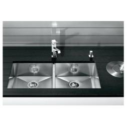 Кухонная мойка Blanco Zerox 400/400-U Нержавеющая сталь (сталь с зеркальной полировкой)