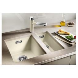 Кухонная мойка Blanco Subline 320-U Silgranit PuraDur (серый беж)