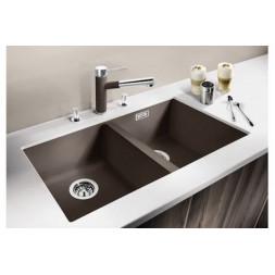 Кухонная мойка Blanco Subline 350/350-U Silgranit PuraDur (серый беж)