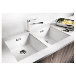 Кухонная мойка Blanco Subline 400-U Silgranit PuraDur (серый беж)