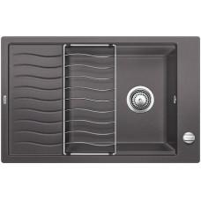 Мойка для кухни Blanco ELON XL 6 S SILGRANIT темная скала с клапаном-автоматом