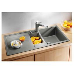 Кухонная мойка Blanco Metra 6 S Silgranit PuraDur (темная скала)