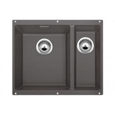 Мойка для кухни Blanco SUBLINE 340/160-U SILGRANIT темная скала с клапаном-автоматом (чаша слева)