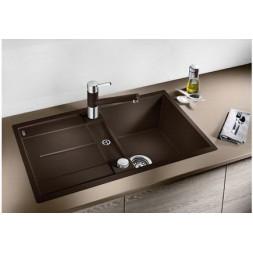 Кухонная мойка Blanco Metra 45S-F Silgranit PuraDur (темная скала)