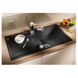 Кухонная мойка Blanco Metra 5 S-F Silgranit PuraDur (темная скала)