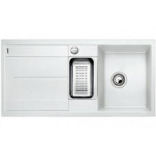 Мойка для кухни Blanco METRA 6 S-F белый с клапаном-автоматом