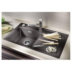 Кухонная мойка Blanco Zenar 45S-F Silgranit PuraDur (темная скала)