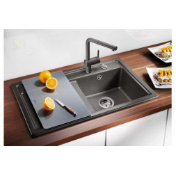 Кухонная мойка Blanco Zenar 45S Silgranit PuraDur (темная скала)