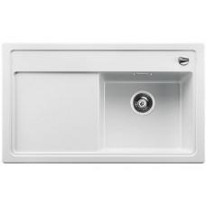 Мойка для кухни Blanco ZENAR 45 S-F чаша справа SILGRANIT белый с клапаном-автоматом