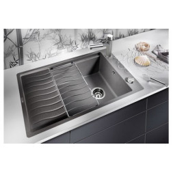Кухонная мойка Blanco Elon Xl 6 S-F Silgranit PuraDur (темная скала)