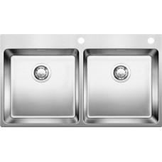 Мойка для кухни Blanco ANDANO 400/400-IF A нерж. сталь зеркальная полировка с клапаном-автоматом