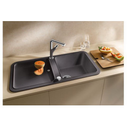 Кухонная мойка Blanco Yova Xl 6 S Silgranit PuraDur (темная скала)