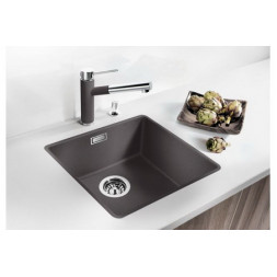Кухонная мойка Blanco Subline 400-F Silgranit PuraDur (темная скала)