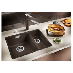 Кухонная мойка Blanco Subline 340/160-F Silgranit PuraDur (антрацит)
