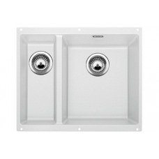 Мойка для кухни Blanco SUBLINE 340/160-U SILGRANIT белый с клапаном-автоматом (чаша справа)