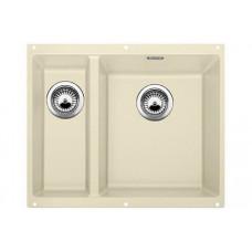Мойка для кухни Blanco SUBLINE 340/160-U SILGRANIT жасмин с клапаном-автоматом (чаша справа)