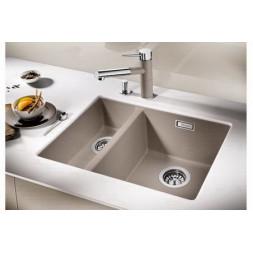 Кухонная мойка Blanco Subline 340/160-U Silgranit PuraDur (серый беж)
