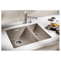Кухонная мойка Blanco Subline 340/160-U Silgranit PuraDur (жемчужный)