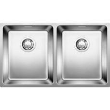Мойка для кухни Blanco ANDANO 340/340-U нерж.сталь полированная без клапана-автомата