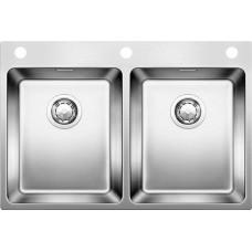 Мойка для кухни Blanco Andano 340/340-IF A нерж. сталь зеркальная полировка с клапаном-автоматом