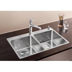 Кухонная мойка Blanco Andano 340/340-If/A Нержавеющая сталь (сталь с зеркальной полировкой)