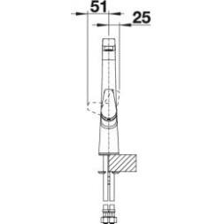 Смеситель Blanco AVONA рычаг справа (хром) – 521267
