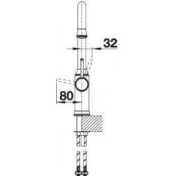 Смеситель Blanco LIVIA-S рычаг справа (полированная латунь) – 521289