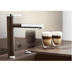 Смеситель Blanco LINEE-S (гранит) кофе SILGRANIT – 518445
