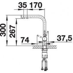 Смеситель Blanco Fontas II (хром) – 525137